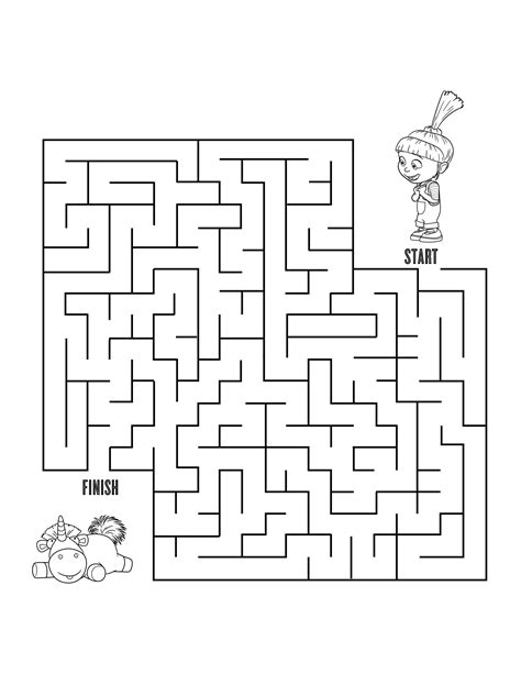 printable minion maze despicable me 3 coloring and activity sheets free printables