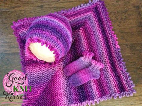loom knitting patterns picot layette set loom knit goodknit kisses