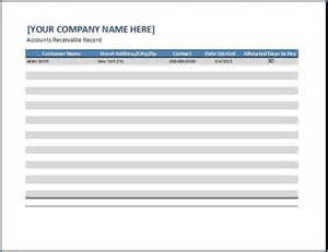 excel accounts receivable template receiver templates images