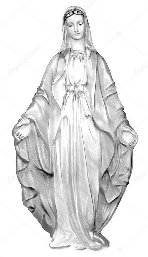 sainte vierge marie vierge marie illustration dans draw