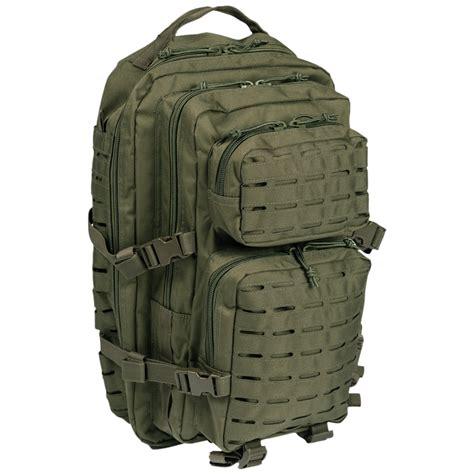 one rucksack mil tec us assault pack large laser cut olive backpacks