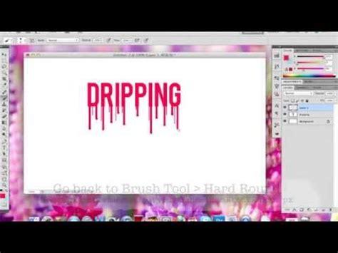 tutorial photoshop cs4 text effect indonesia photoshop cs4 dripping bleeding text effect youtube