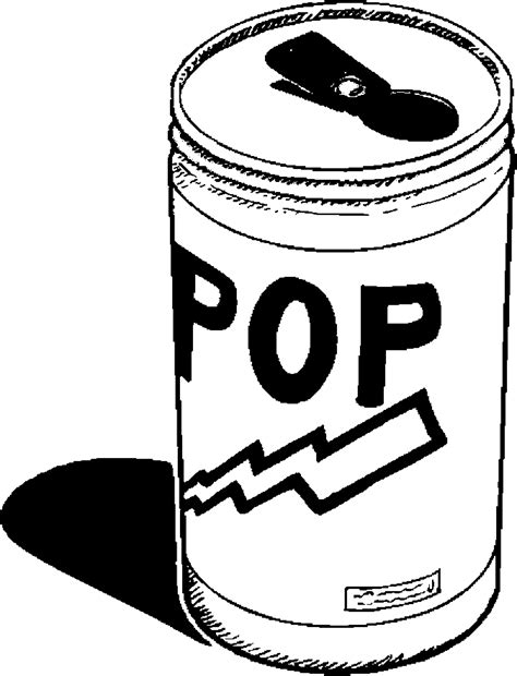free cans of soft drinks coloring pages