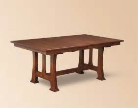 Mission Dining Room Table by Amish Custer Mission Trestle Dining Table Trestle Tables