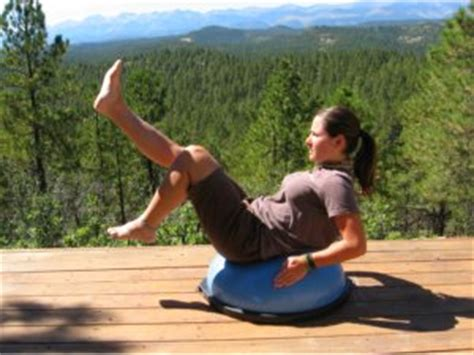 boat pose on bosu bosu balance trainer for core strength training 2