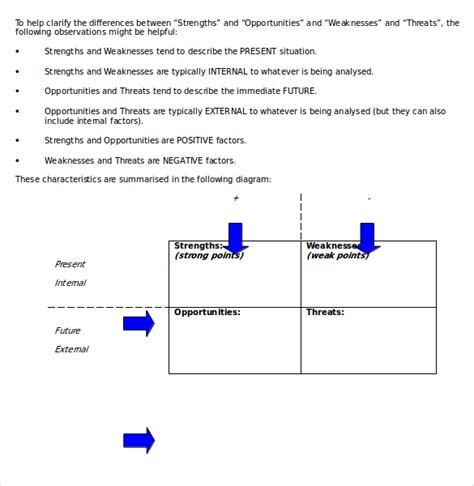 swot analysis free template word 19 microsoft word swot analysis templates free
