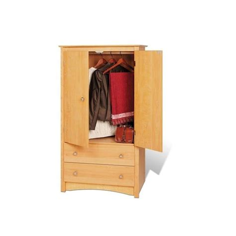 Maple Armoire Wardrobe Prepac Sonoma Maple Tv Wardrobe Armoire