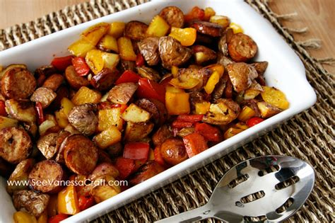 recipe sausage potato peppers healthy skillet see