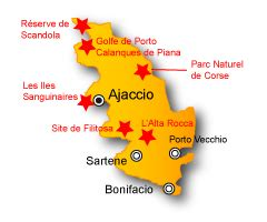 Gites ruraux Corse du Sud, location gite Corse   Gite01.fr