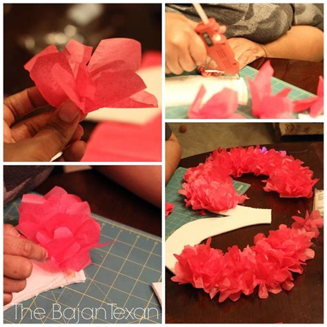 How To Make Decorations With Tissue Paper - tissue paper birthday number sign tutorial diy