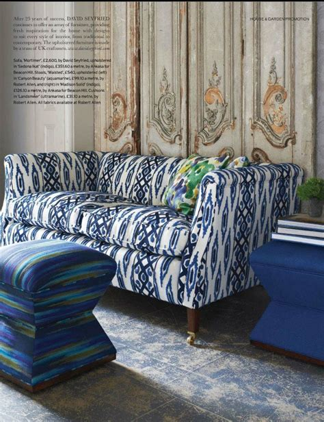 ikat couch sapphire blue ikat pattern couch paint color schemes