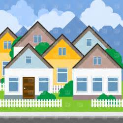 House Photos Free by Suburb Street And Houses Vector Image 1752 Rfclipart
