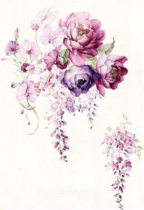 tattoo flower background floral watercolor hand painted flower garden wallpaper