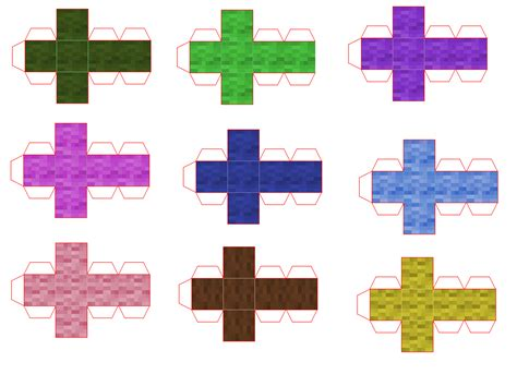 Mini Paper Craft - minecraft papercraft mini blocks www pixshark