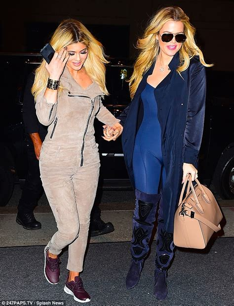977 103rb Jumsuit Kardhasian jenner in suede jumpsuit during dinner with and tyga daily mail
