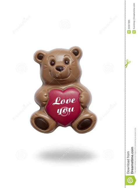 chocolate teddy bear  heart stock image image  certificate confectionery