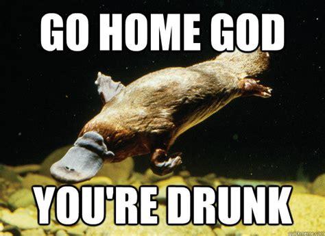 You Re Drunk Meme - go home god you re drunk intelligent design quickmeme