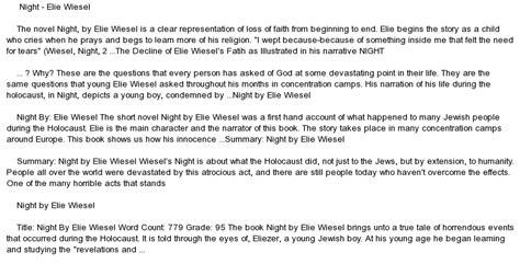Elie Wiesel Essay by By Elie Wiesel At Essaypedia