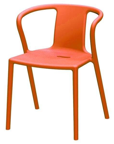 air armchair stackable armchair polypropylene orange by