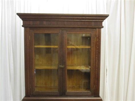 antique china cabinets for sale antique dark walnut arts crafts china cabinet hutch for