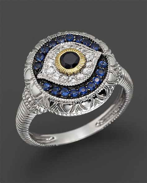 judith ripka sterling silver evil eye ring bloomingdale s