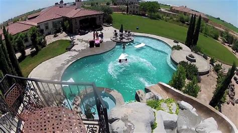 awesome backyard pool slide gopro hd hero2