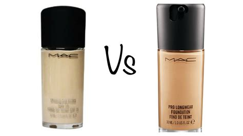 Mac Studio Fix Fluid Foundation comparison mac studio fix fluid pro wear