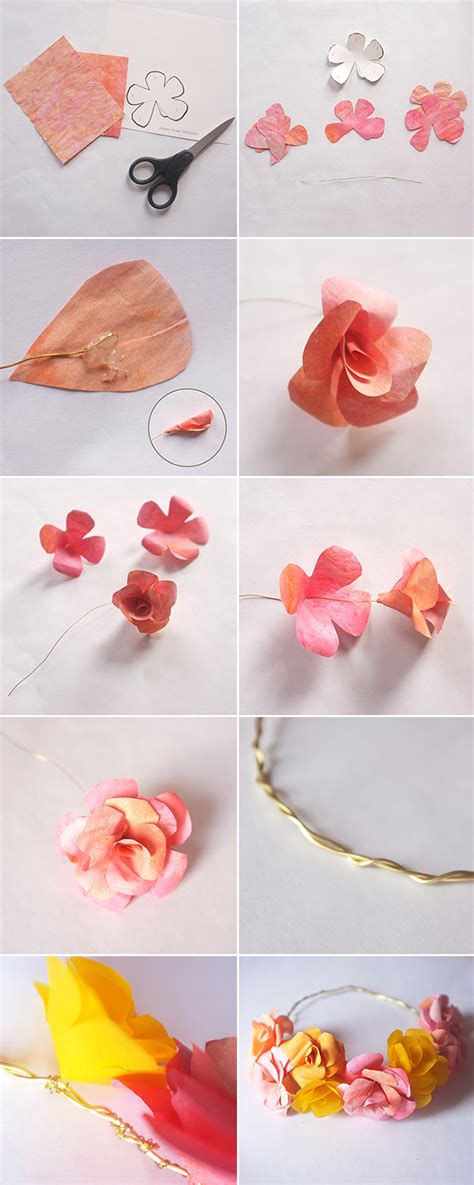 How To Make A Flower Crown With Paper - diy paper flower crown for fossil alana jones mann