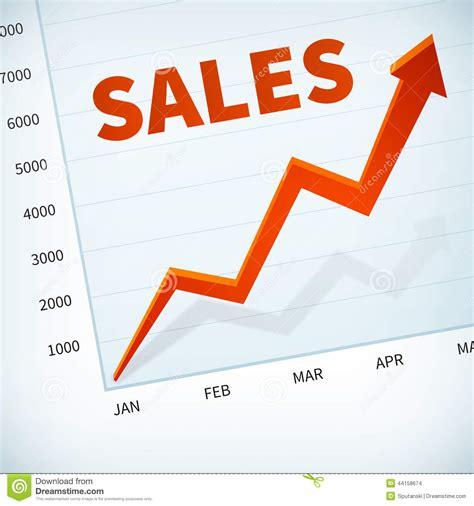 business sle positive business sales chart arrow stock vector