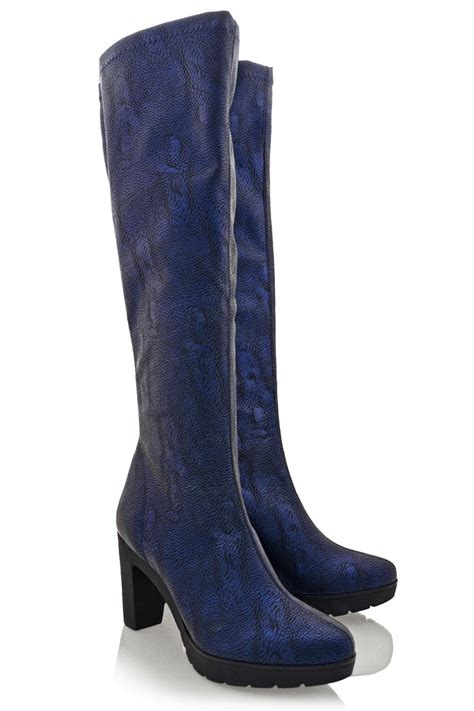 blue leather boots studio mare savage blue leather boots pret a beaute