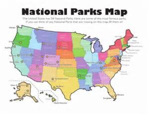 national parks map worksheet education