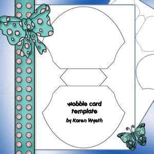 Wobbler Card Template by Shell Shaped Card Template Cup415398 1056 Craftsuprint