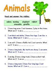printable animal riddles riddles and answers for kids what am i www pixshark com