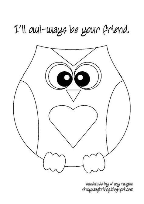 owl templates owl and valentines day on pinterest