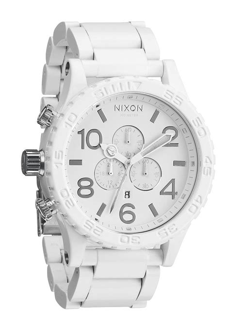 Gc Chrono Keramik White Silver nixon the 51 30 chrono all white silver herrenchronograph