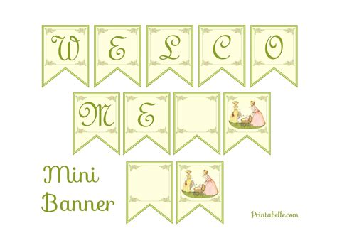 free printable baby shower banners print free vintage baby shower printables from printabelle