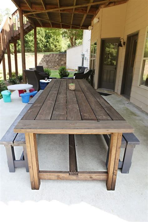 extra long diy outdoor table diy outdoor table outdoor