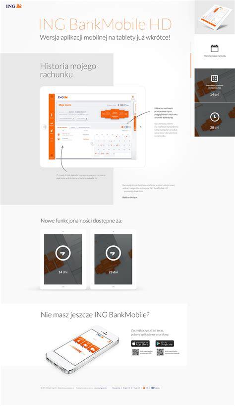 bank mobile ing bank mobile hd on behance