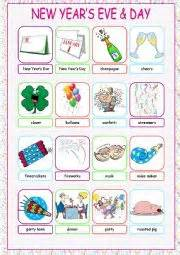 new year picture dictionary worksheets new year 180 s day picture dictionary