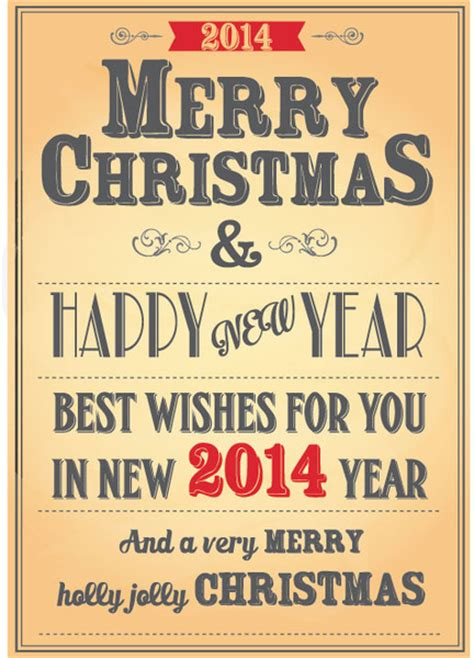vintage new year poster free vector vintage christmas8 new year typography poster