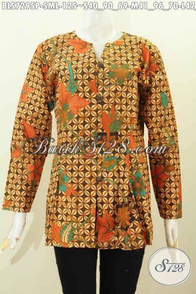 Baju Wanita Murah 287 by Baju Batik Kerja Wanita Murah Blus Model Mekar Bawah