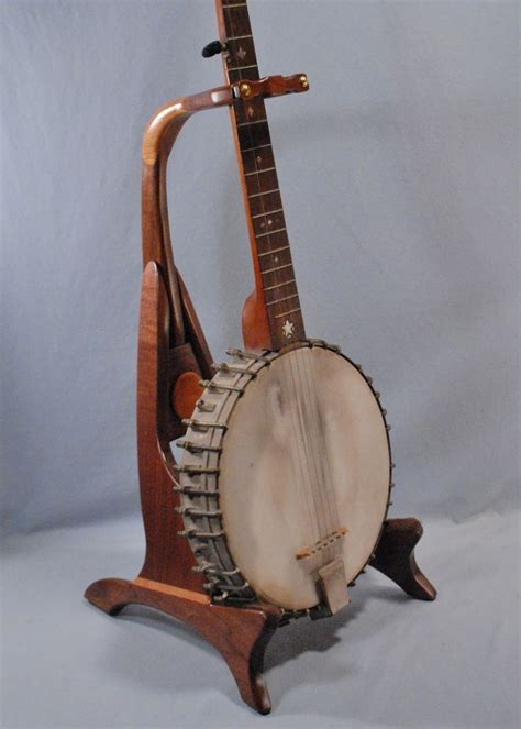 Handcrafted Banjo - made banjo stand by south mountain woodworks