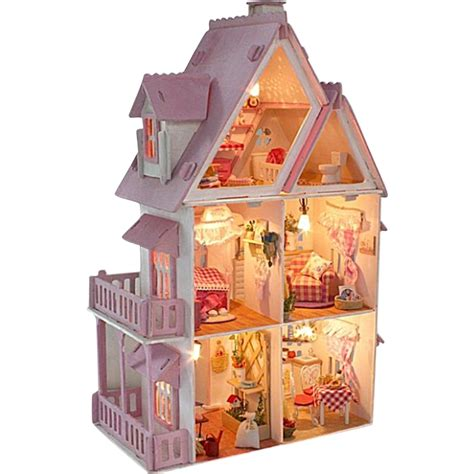 assembled doll houses christmas gift sunshine alice doll house model building kits classic handmade diy
