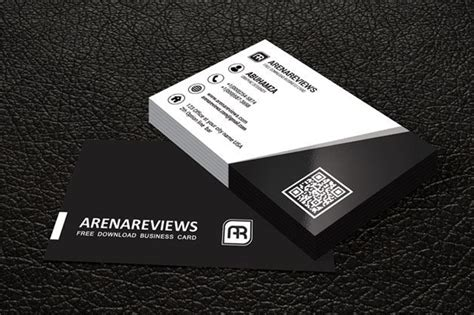 Business Card Template Black Design by 20 Free Black And White Business Card Templates Designyep