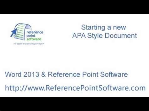 apa format word 2013 start a new apa paper in word 2013 youtube