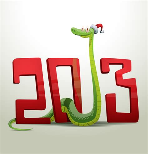new year snake pictures new year snake 2013 design vector set 04 millions