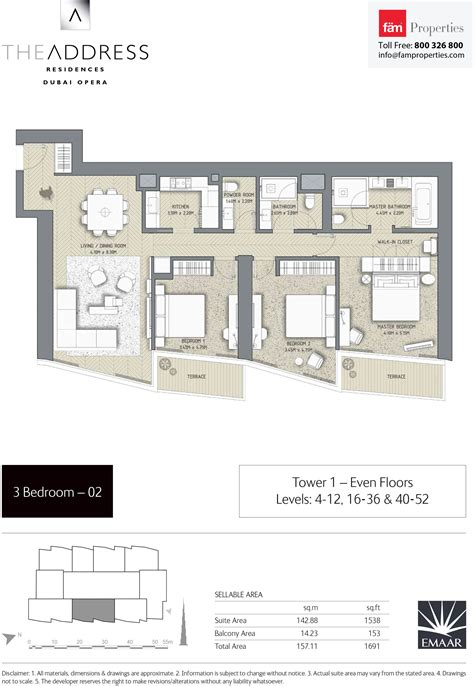 floor plans the address residences dubai opera dubai opera luxamcc