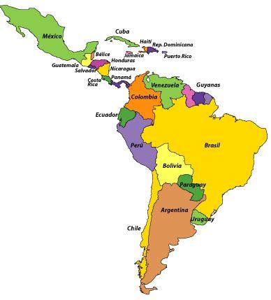 mapa américa latina países