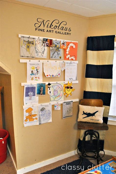 how to display art 10 diy kids art displays to make them proud kidsomania