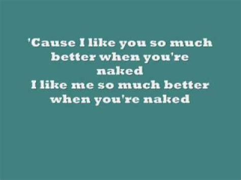i like you so much better when you re lyrics ida